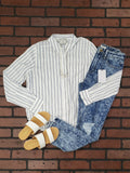 Kylee Striped Long Sleeve Blouse