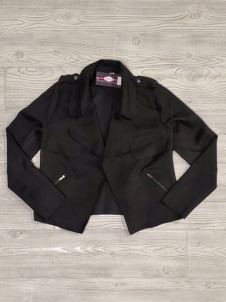 Mary Faux Suede Jacket - Black