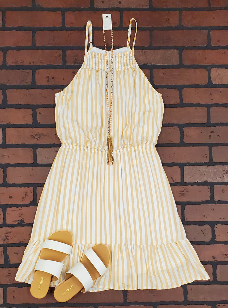 Fanny Stripe Sun Dress