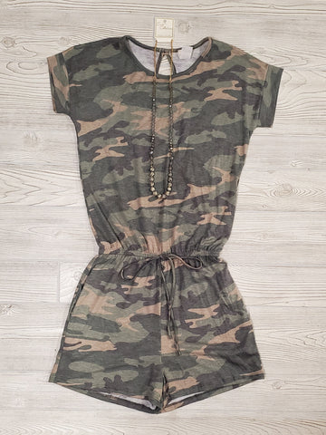 Marina Camo Ruffle Sleeve Dress - Gray