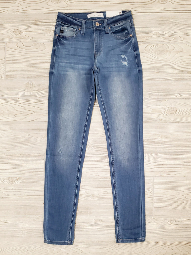 Light Wash Mid Rise Super Skinny