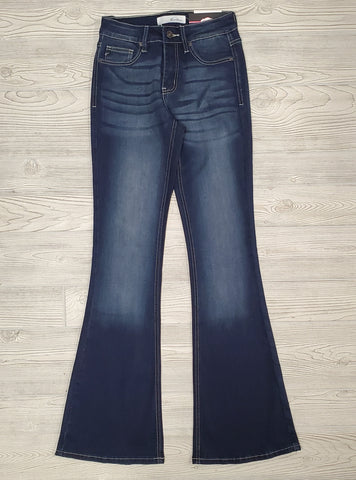 Dark Wash High Rise Ankle Skinny