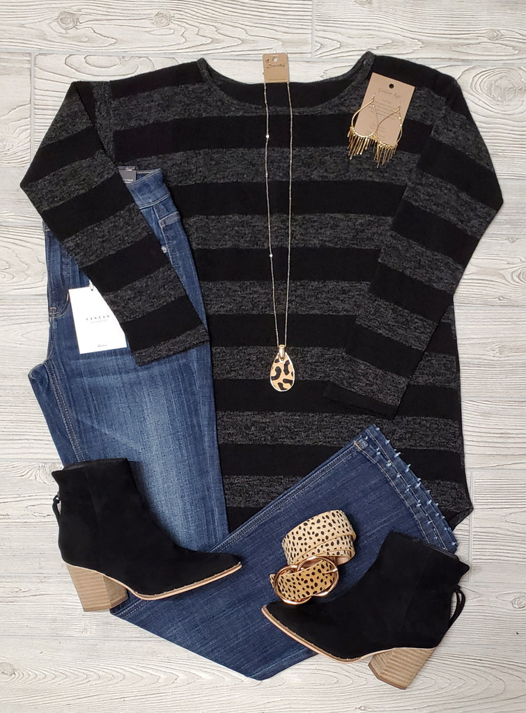 Jasmine Striped Long Sleeve Top