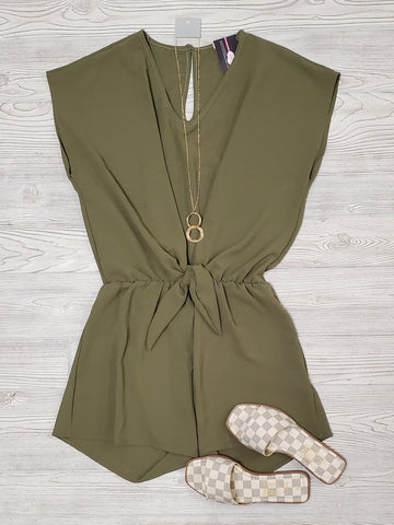 Jessa Black Center-Tied Romper