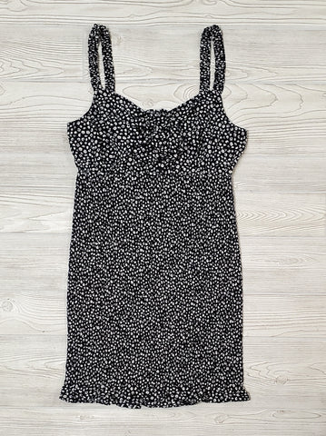 Izzy Side Gathered Leopard Dress