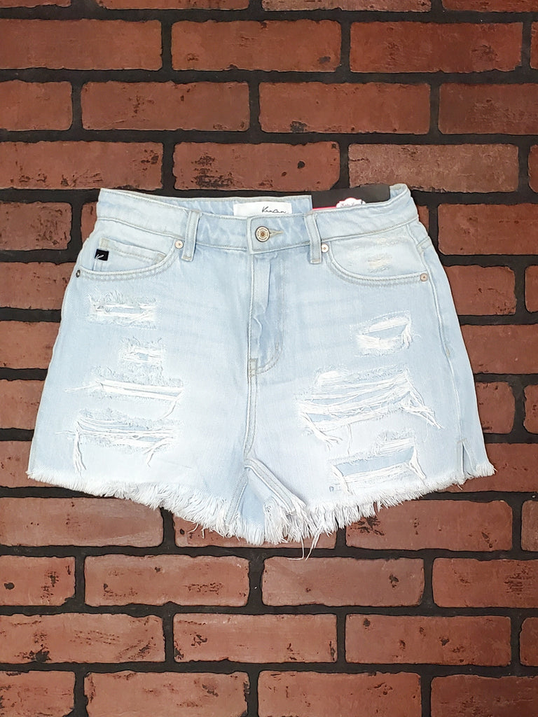 "Evie Light Wash ""Mom"" Shorts"