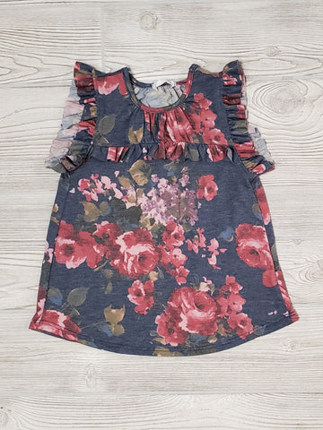 Tori Ann Flutter Sleeve Top (GIRLS)