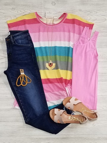 Elenora Striped Twist Tee