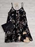 Jacci Tiered Black Floral Dress
