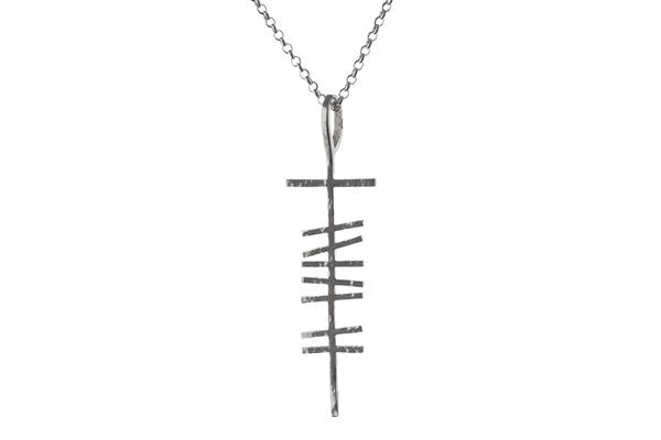 Mens angular love necklace