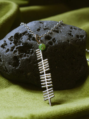 Ireland gem silver pendant on a black stone