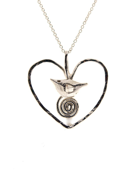 Celtic Bird in Wire Heart