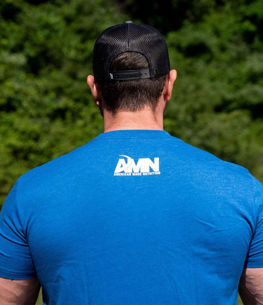 American Made Nutrition APPAREL M Evolution Tee // Royal Blue