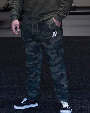 American Made Nutrition Apparel Fleece Joggers // Forest Camo
