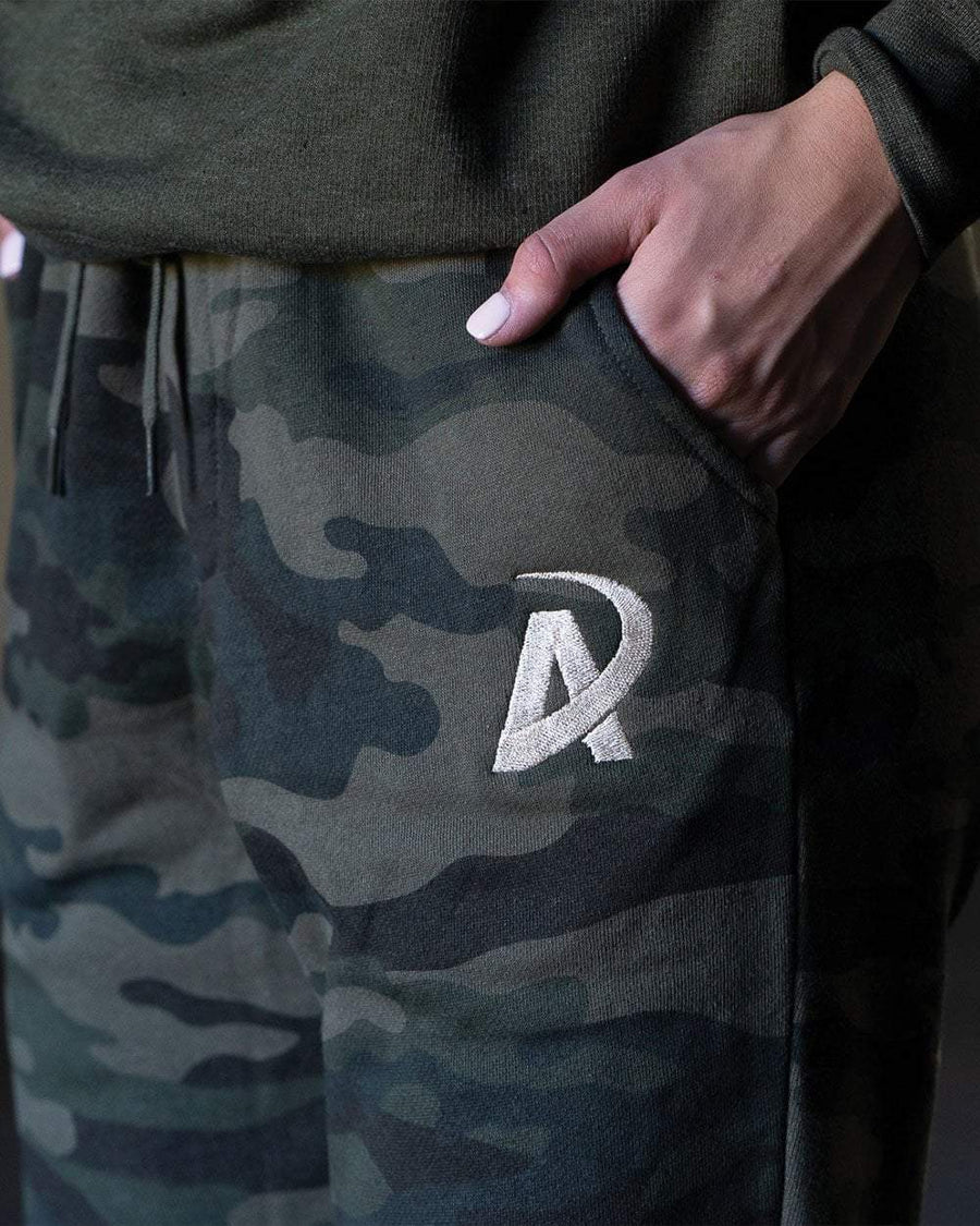 Fleece Joggers // Forest Camo - American Made Nutrition Supplements and Fitness Apparel
