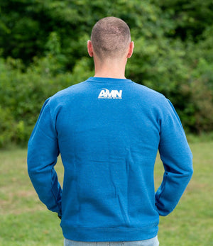 American Made Nutrition CREW NECKS Crewneck Pullover // Royal Blue