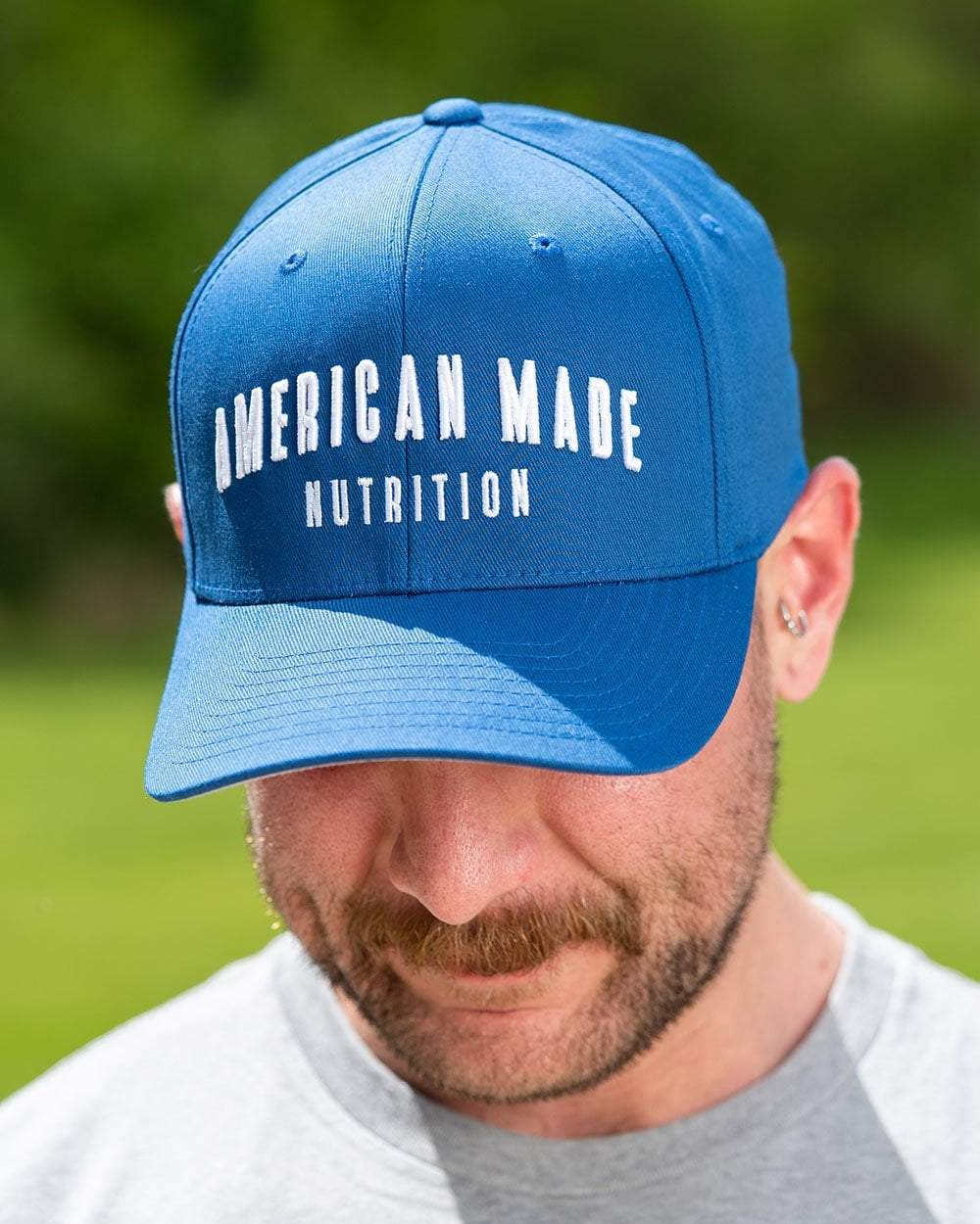 American Made Nutrition HATS S/M / Royal Blue Flexfit Hat