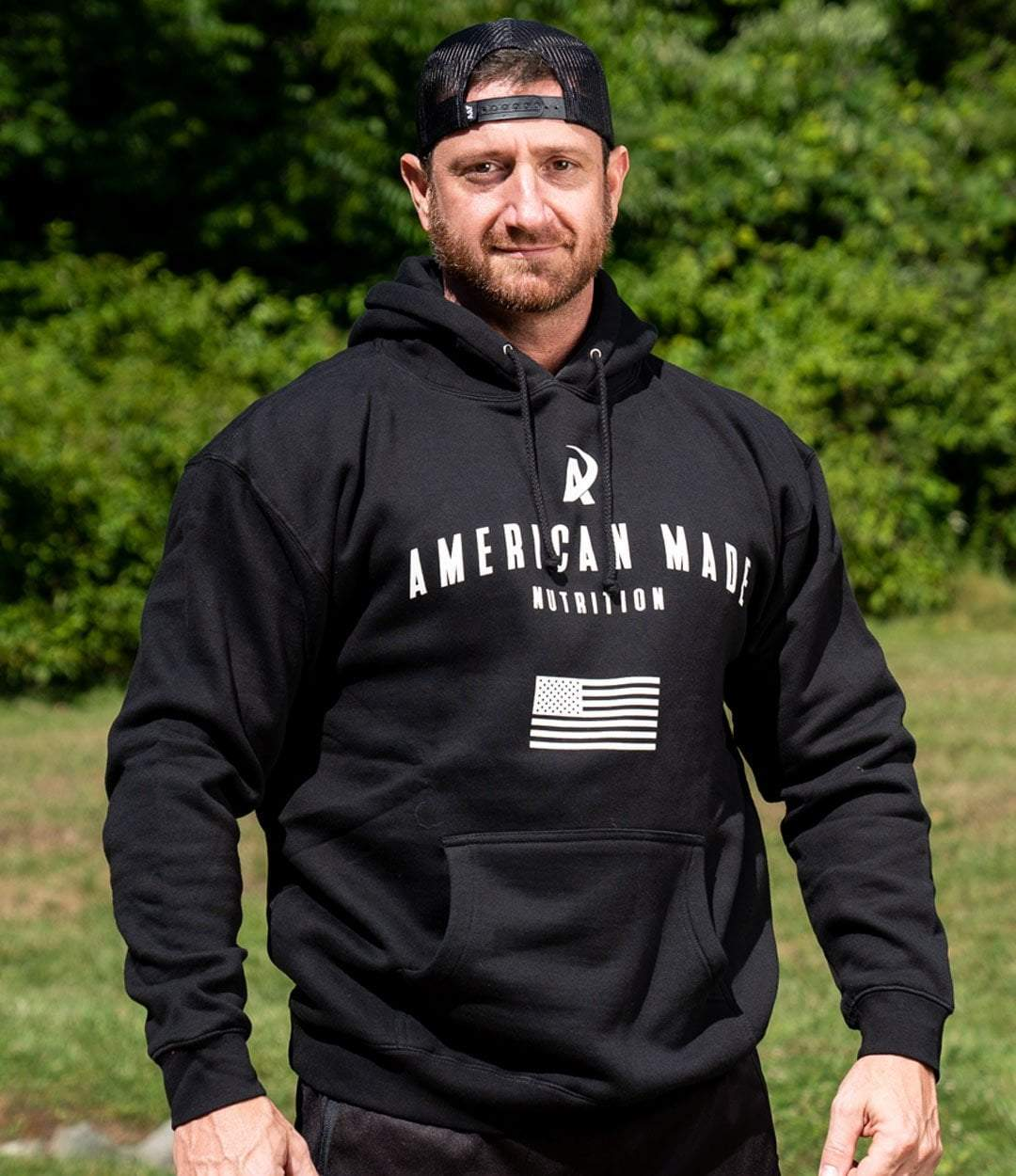 American Made Nutrition HOODIES S Evolution Hoodie // Black