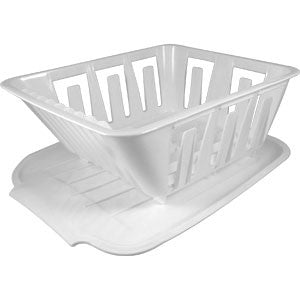 MINI DISH DRAINER SET-WHT
