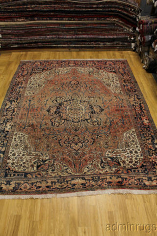 Antique Faded Heriz Persian Rug 10X12