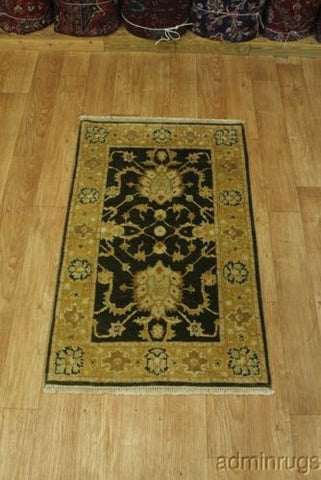Gold & Green Peshawar Pakistan Rug 3X5