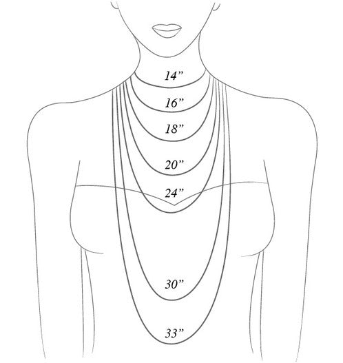 Necklace Length Fit Guide Artifact Adventure Adornment Jewelry