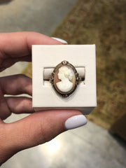 Esther 14kt Yellow Gold with Rose Gold Accents Victorian Cameo Ring