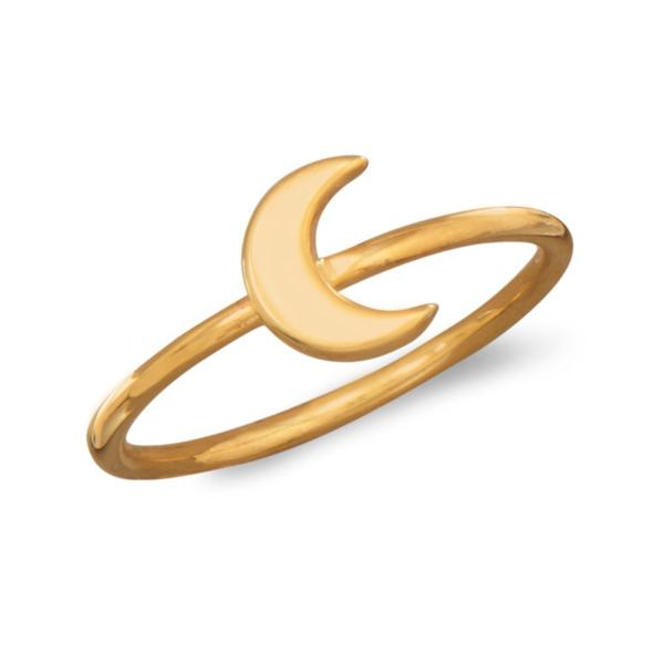 Harlow Minimal 14kt Yellow Gold Crescent Moon Ring