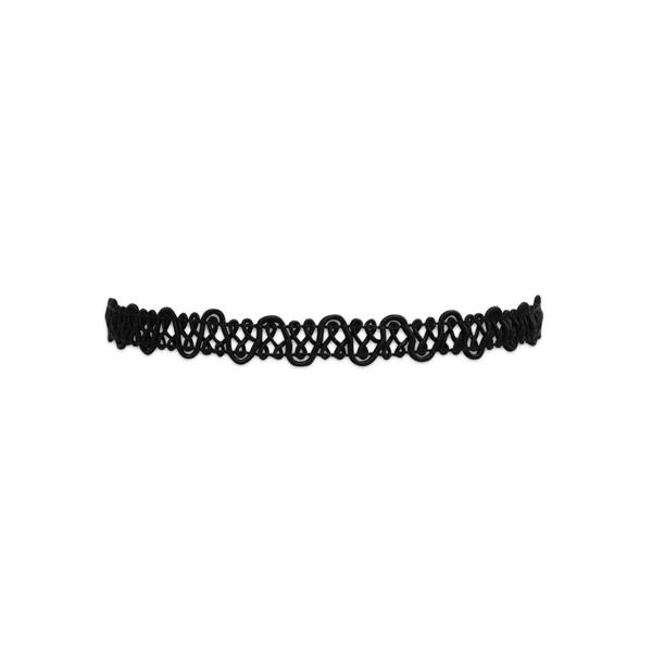 Lucy Black Thread Elegant Lace Choker Adjustable Necklace