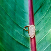 Mary Large Pink Rose Gold Rose Quartz Bohemian Ring