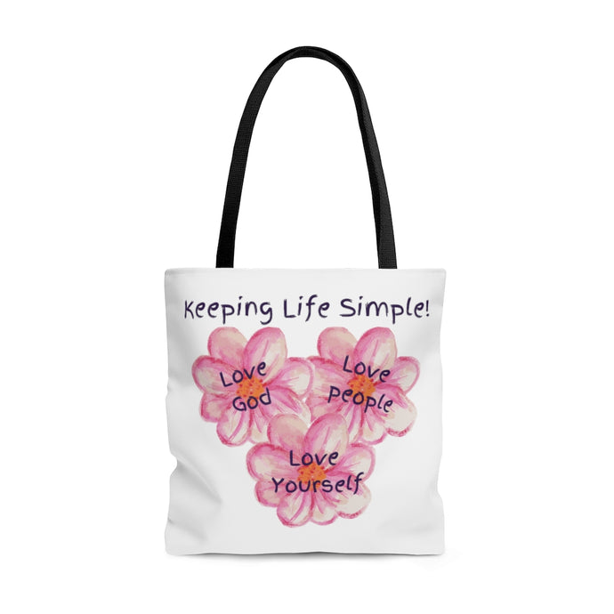 Keeping Life Simple! - AOP Tote Bag