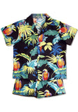Neon Parrots Authentic Hawaiian Boy's Cabana Play Set - Black