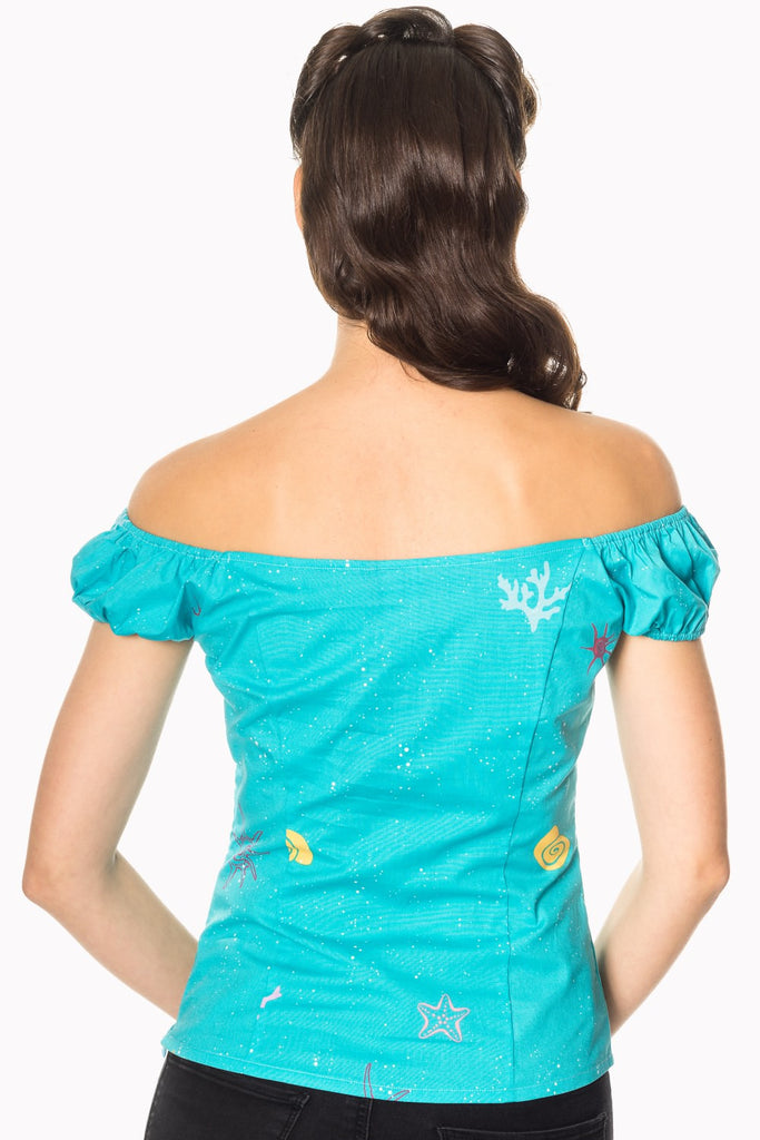 Sophia Under the Sea Peasant Top