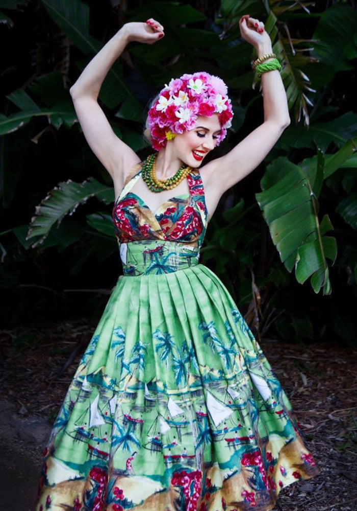 Tahitian Dream Border Pint Dress