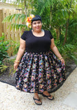 Midnight Fish Deluxe Beverly Gathered Skirt in Black