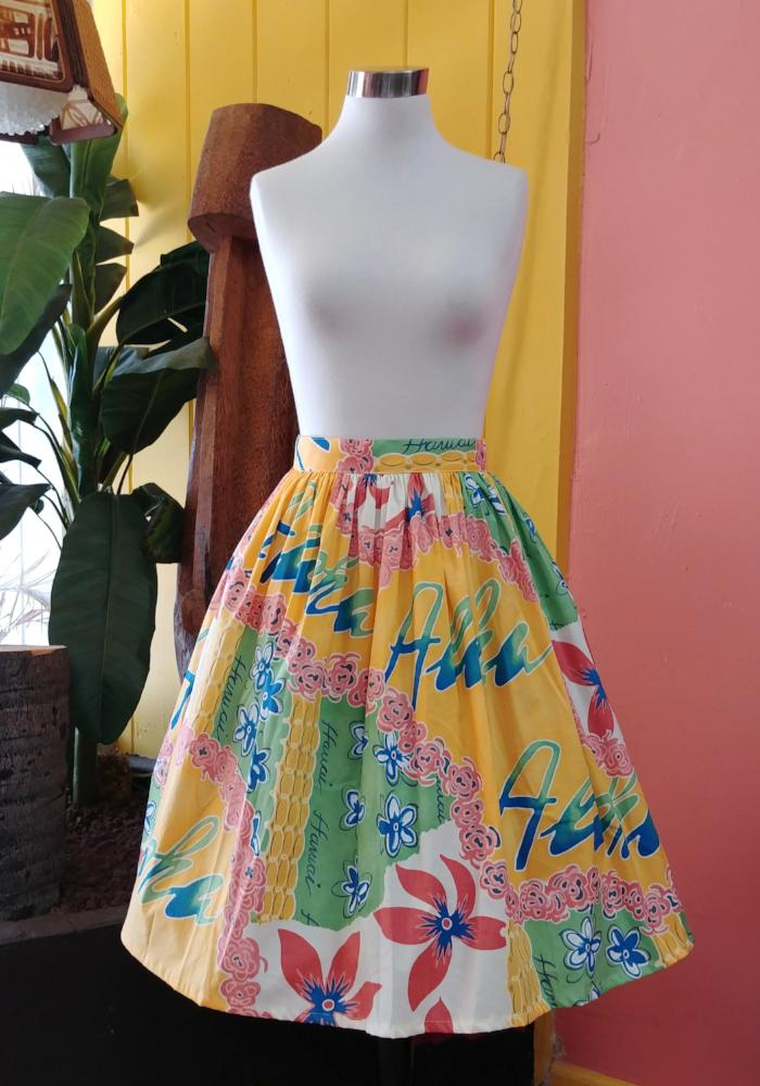 Hawaiian Holiday Deluxe Beverly Gathered Skirt