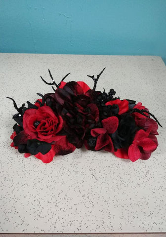 50's Style Retro Neck & Hair Scarf - Red