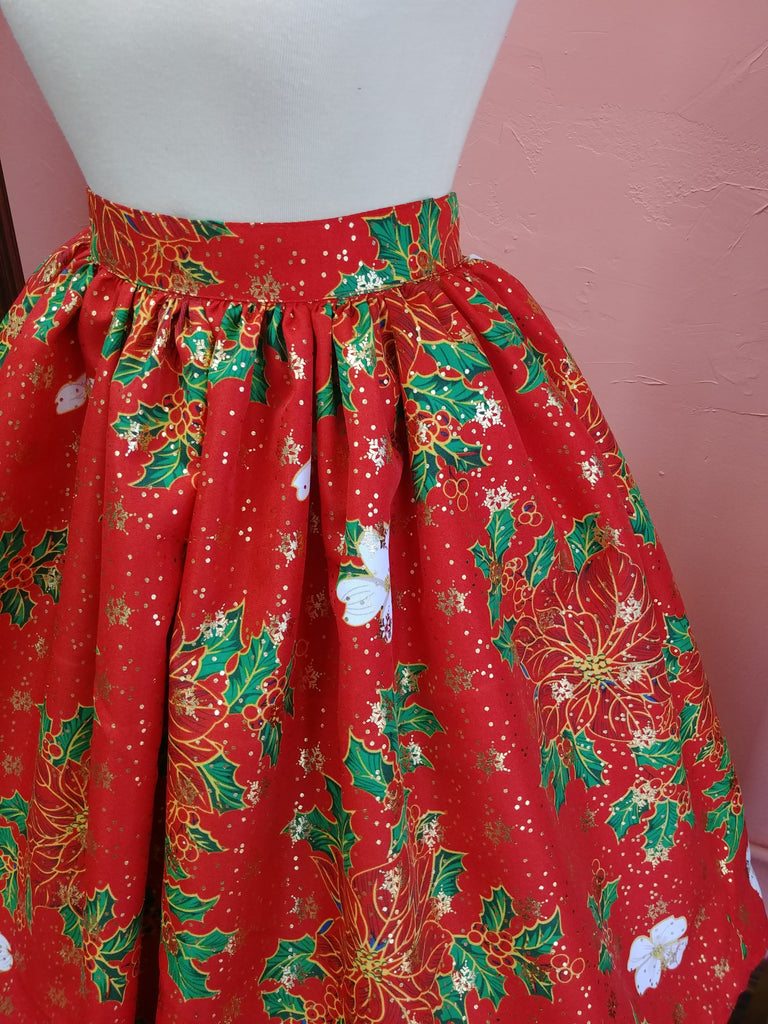 Christmas in Paradise Luxe Beverly Gathered Skirt