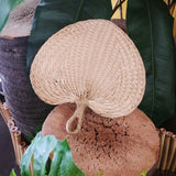 Wicker Palm Leaf Hand Fan