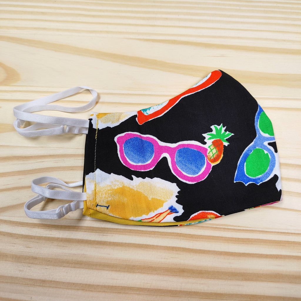Adult Face Mask Covering, Retro Sunglasses