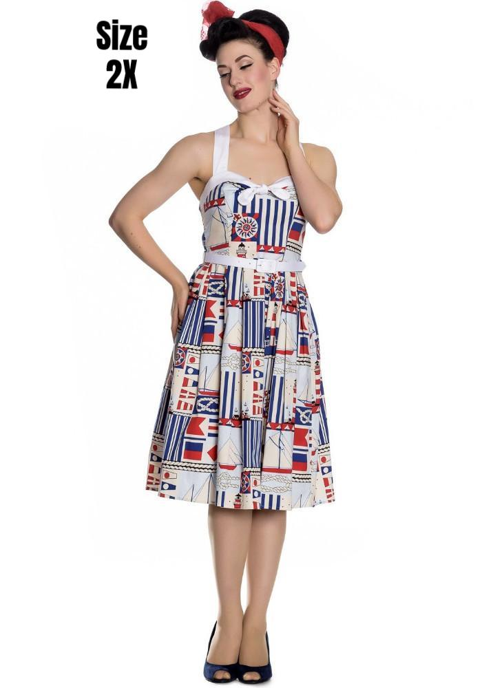 Lighthouse Nautical 50s Dress