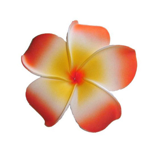 Orange Plumeria Flower Hair Clip