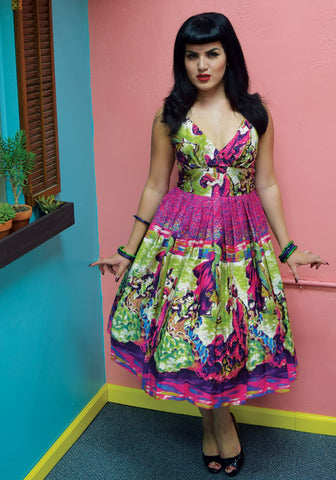 Tahiti Tropical Floral Dress
