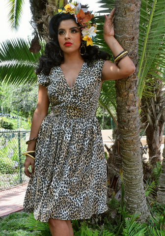 Monstera Leaves Jolene Patio Dress