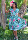Tropical Birds of Paradise Jolene Patio Dress