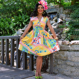 Hawaiian Holiday Jolene Patio Dress