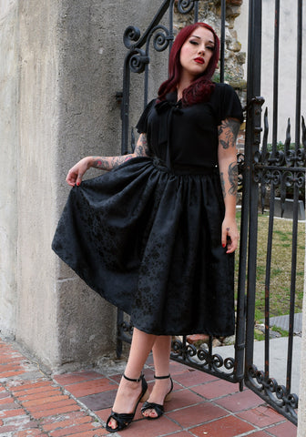 Haunted Damask Jolene Patio Dress in Black