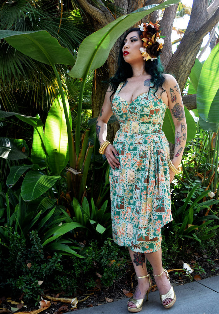 """Final Sale"" Calla Lilies in Bloom Sonia Sarong Dress"