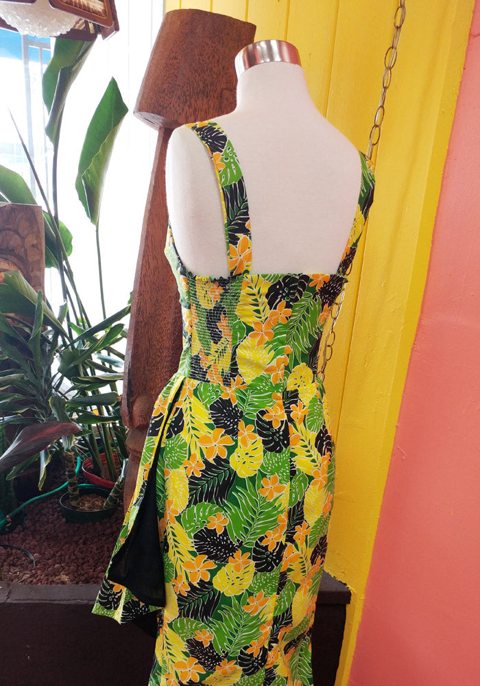 """Final Sale"" Palm Jungle Sonia Sarong Dress in Green"