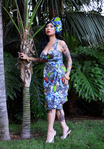 """Final Sale, DAMAGED"" Sail Away Windjammer Sonia Sarong Dress (BROKEN ZIPPER)"